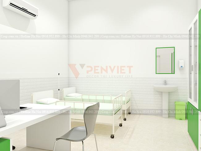 Sử dụng gam màu sáng tạo sự rộng rãi và chuyên nghiệp cho phòng khám