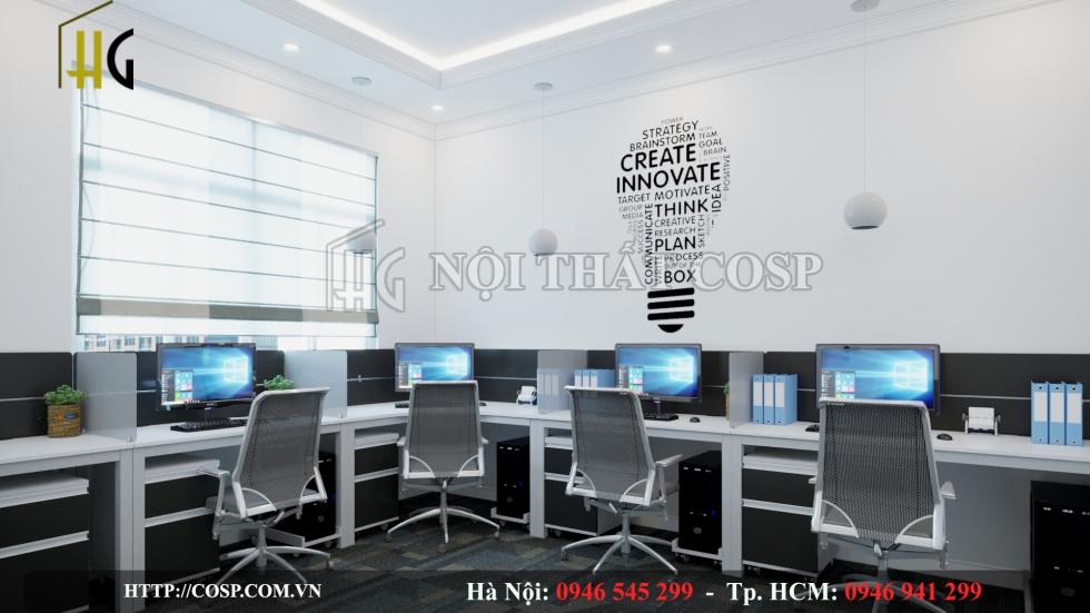 Thiết kế văn phòng năng động, hiện đại