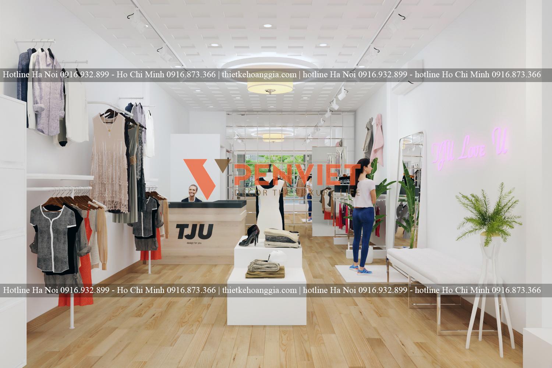Bố Trí Gương Thích Hợp cho mẫu thiết kế shop thời trang