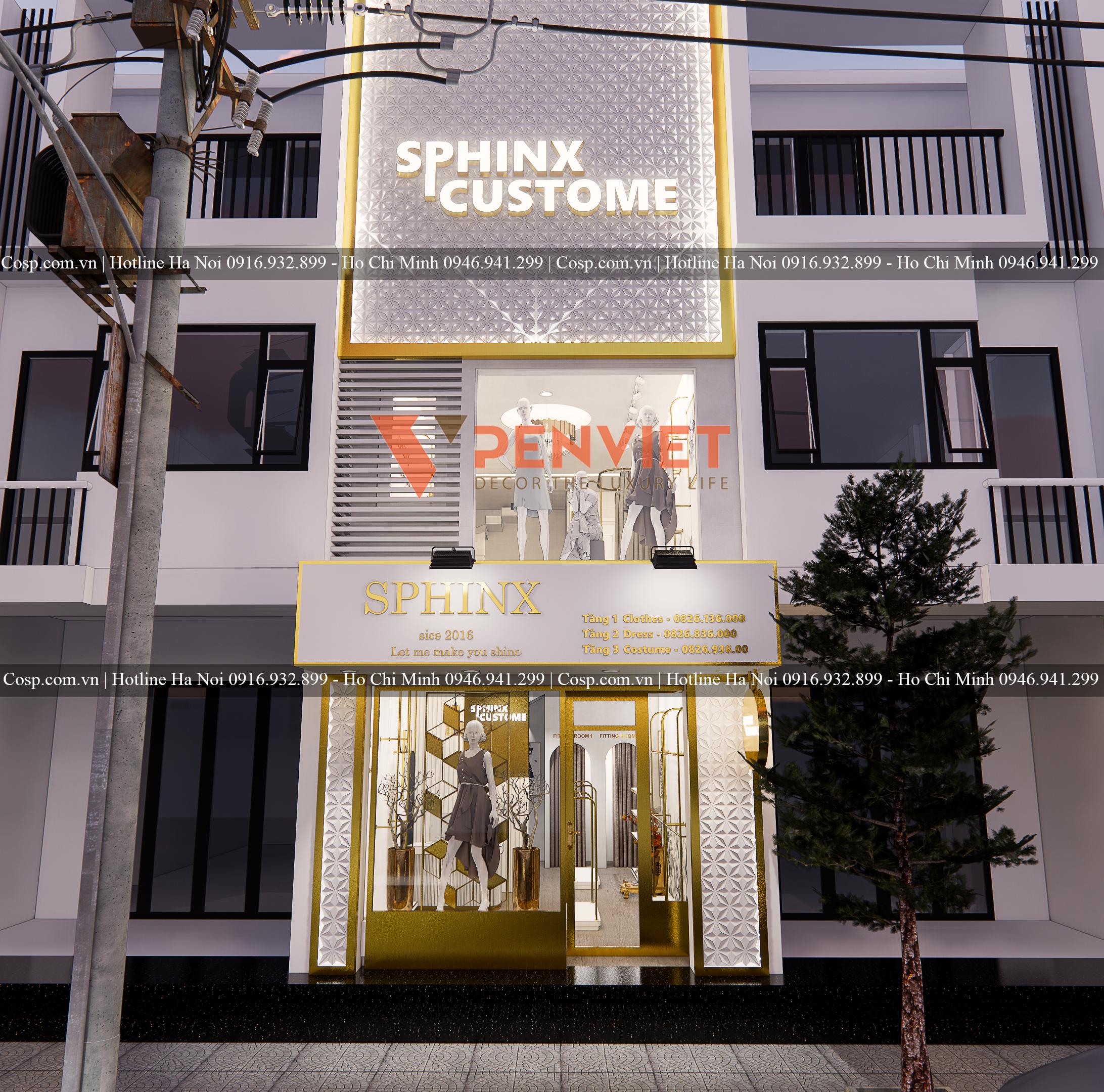 Mẫu thiết kế shop thời trang ấn tượng