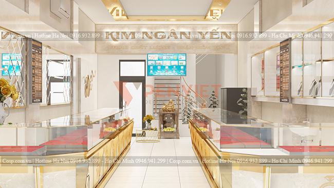 Thiết kế tiệm vàng Kim Ngân Yến