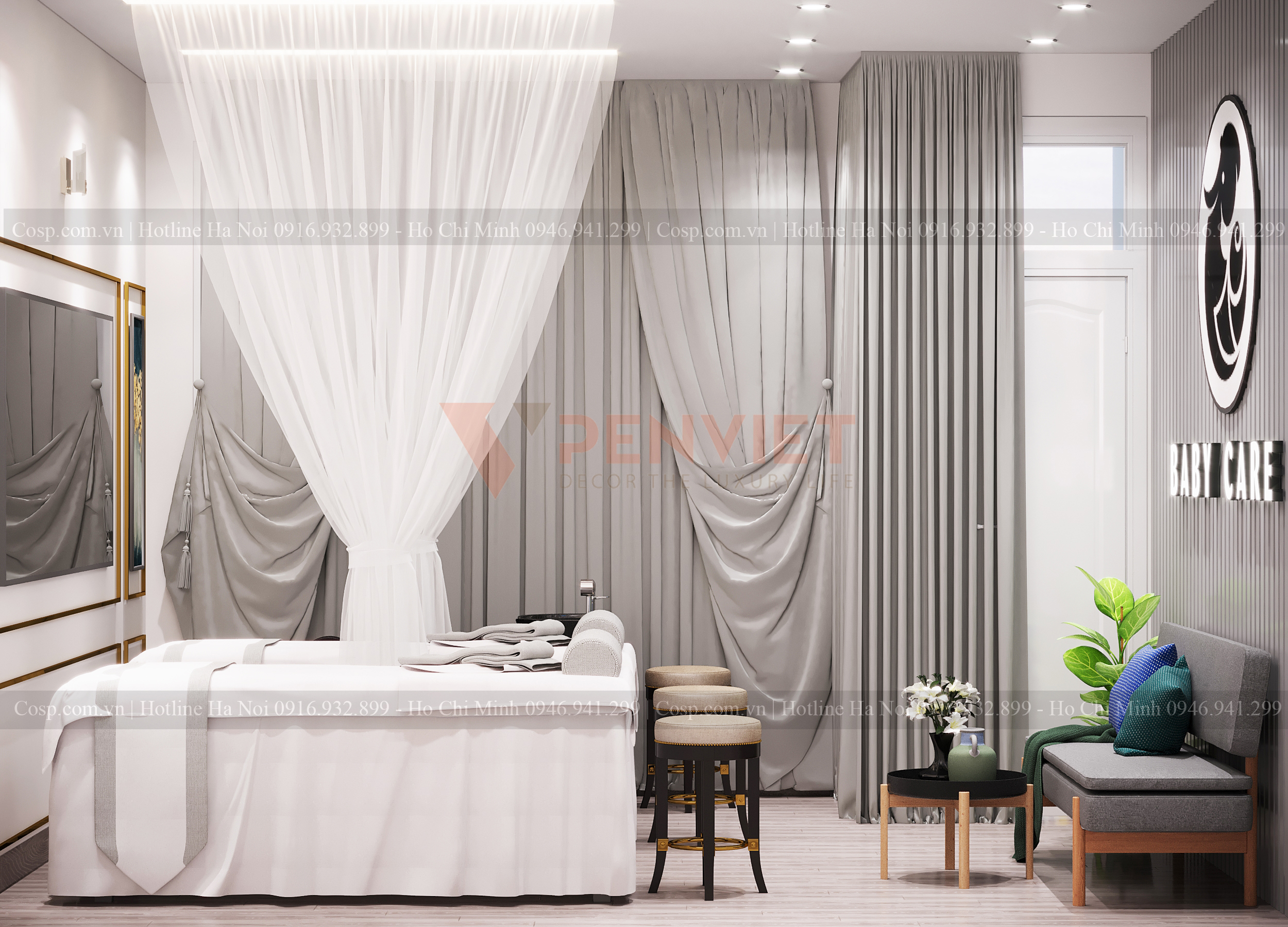 Thiết kế spa mini Baby Care