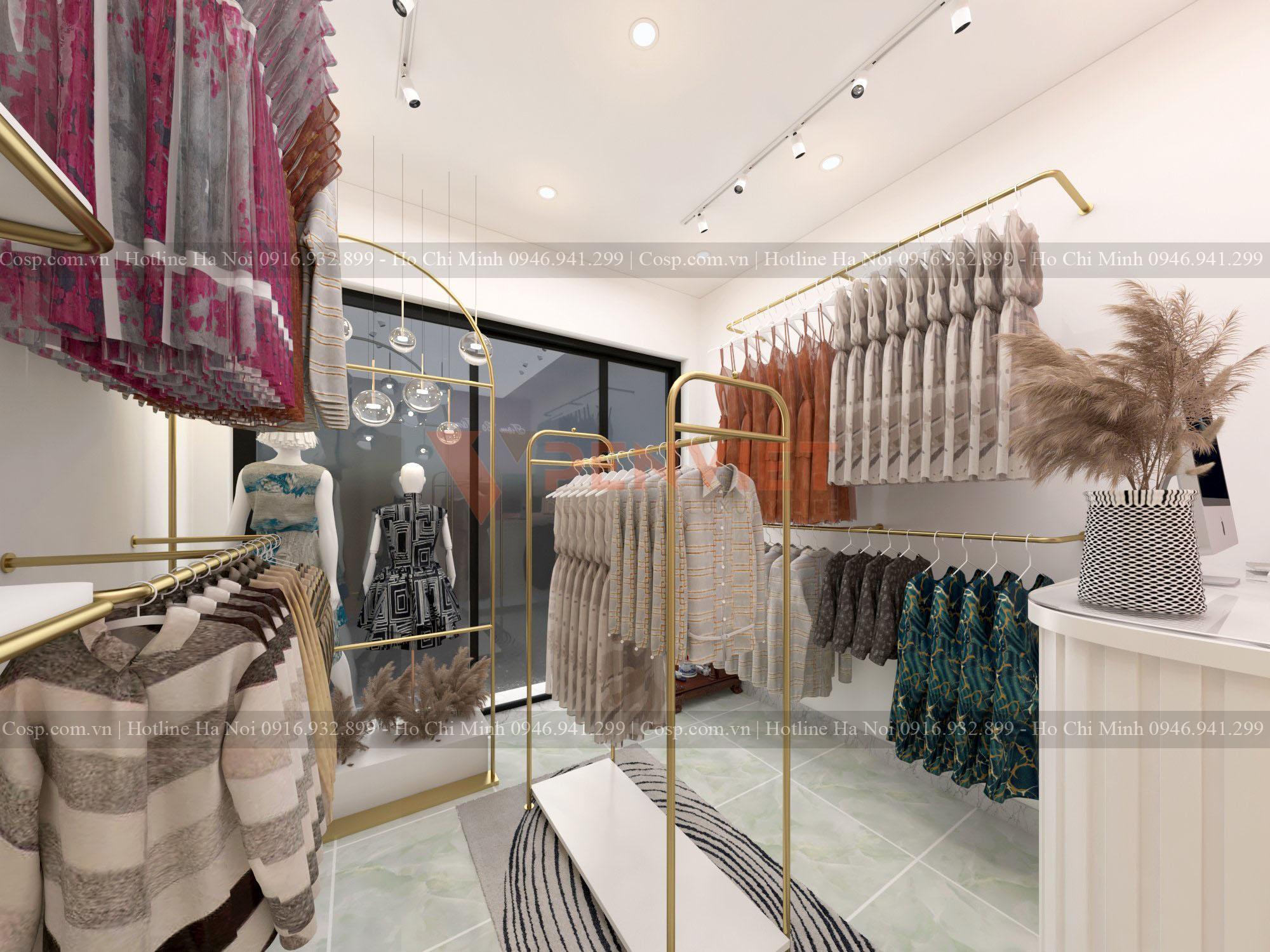 Bạn sẽ choáng ngợp với mẫu thiết kế shop thời trang nữ cao cấp