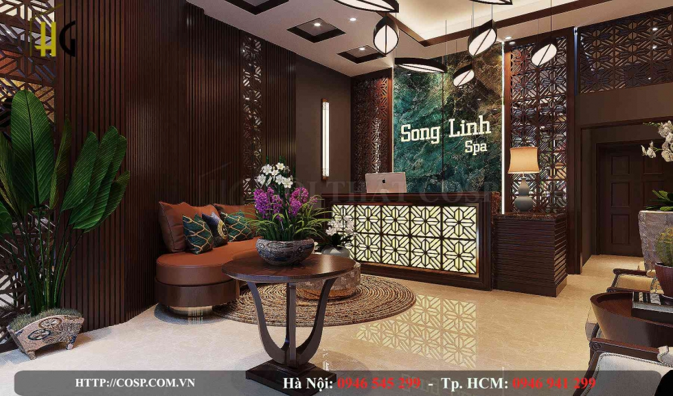 Thiết kế spa Song Linh