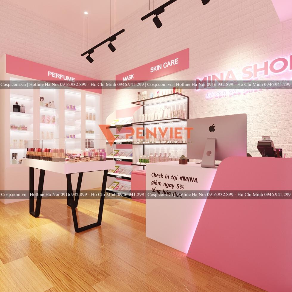Thiết kế shop mỹ phẩm uy tín tại Nội thất Penviet