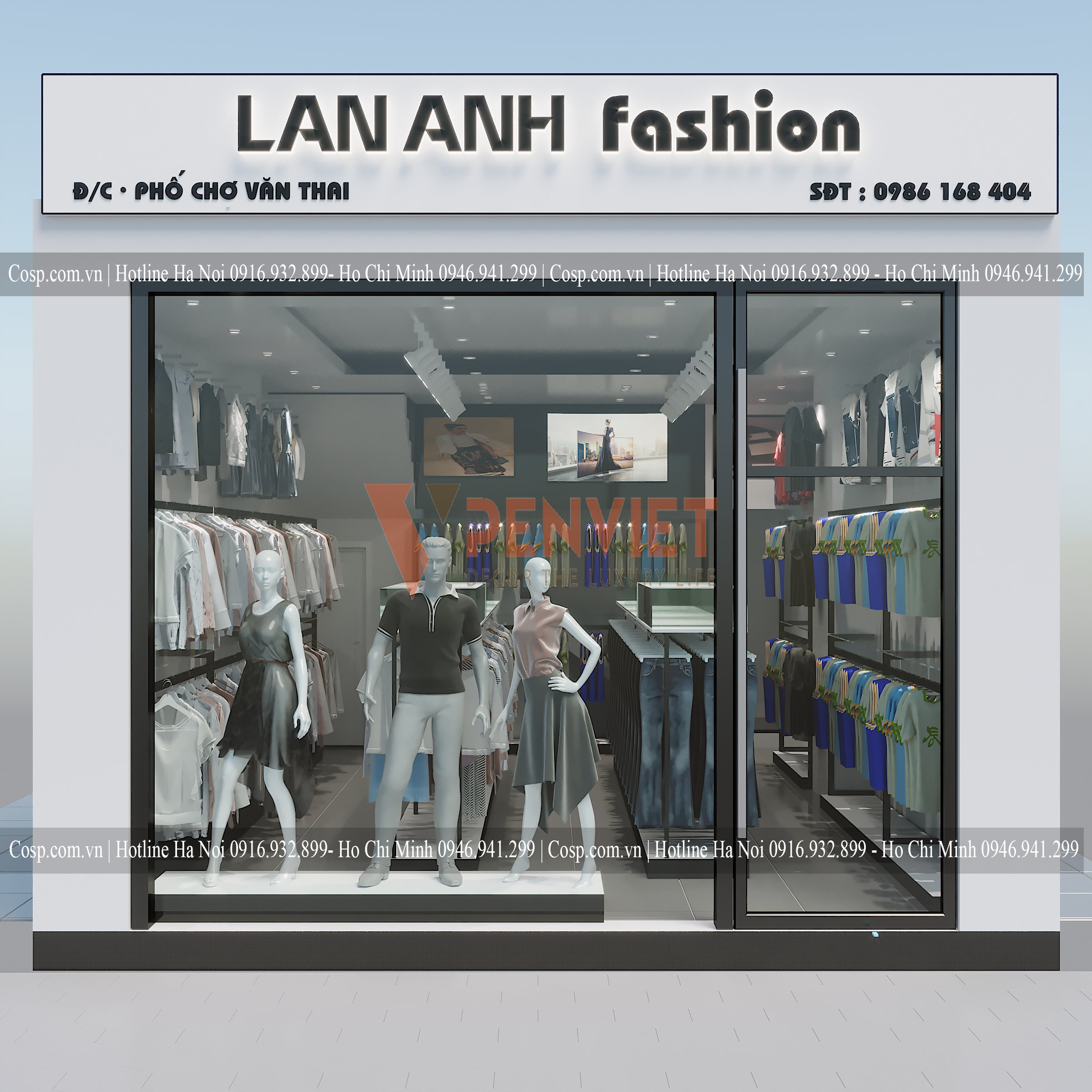 Thiết kế shop quần áo Lan Anh Fashion