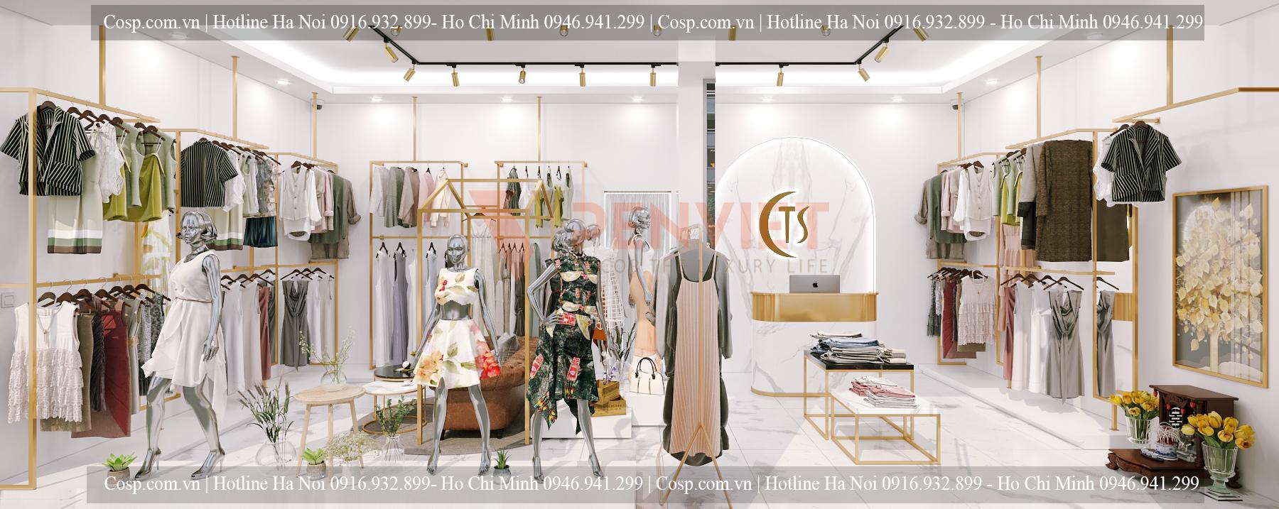 Thiết kế shop thời trang Thái Anh