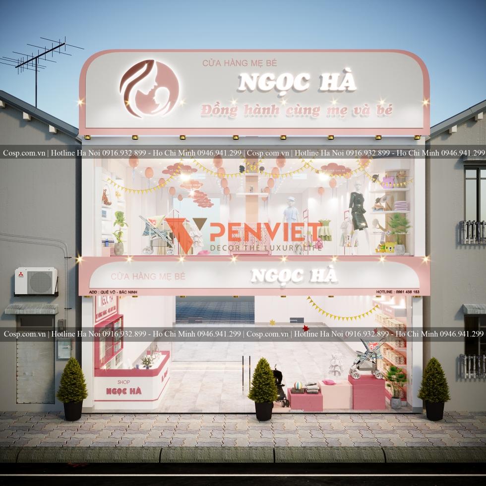 Thiết kế cửa hàng mẹ bé Ngọc Hà