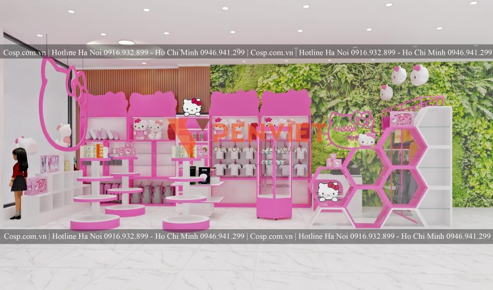 Thiết kế shop trẻ em Hello Kitty