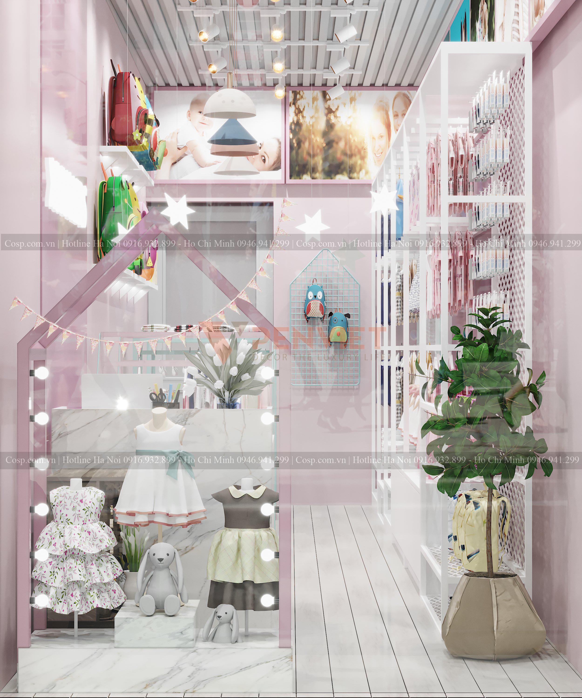 Chi phí thiết kế cửa hàng được căn cứ dựa vào hiện trạng và nhu cầu thi công