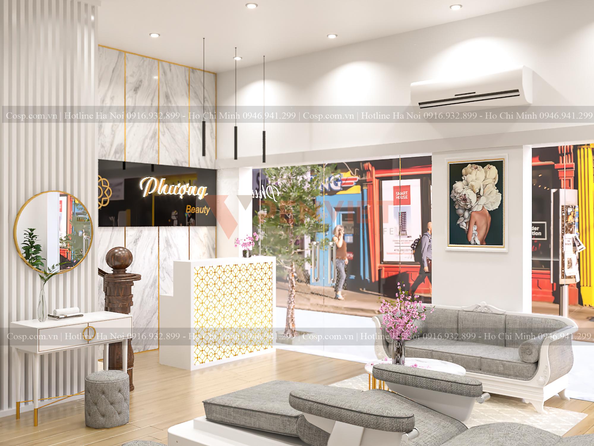 Thiết kế nội thất spa sang trọng mang đến sự đẳng cấp cho không gian