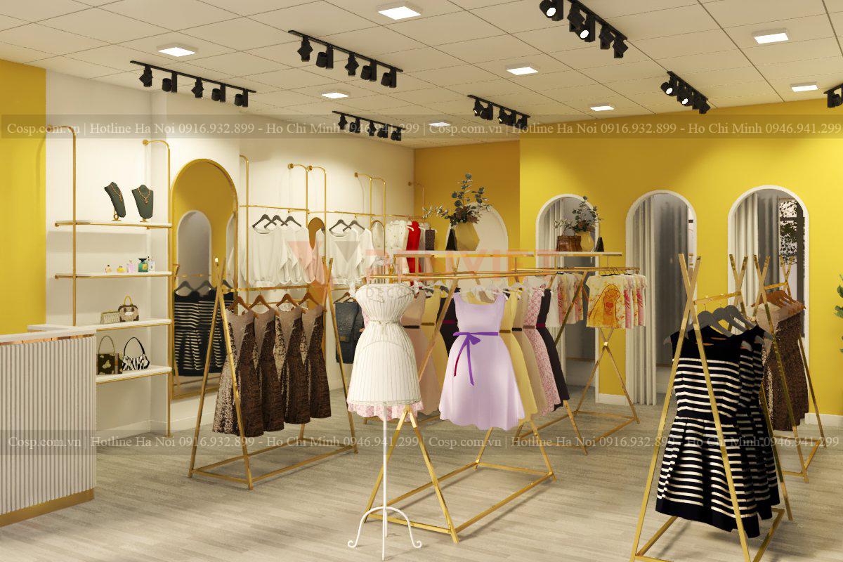 Gửi bản thiết kế hoàn thiện và chi phí thi công nội thất shop đến khách hàng