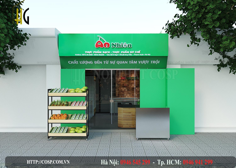 Thiết kế & thi công shop thực phẩm 40 triệu
