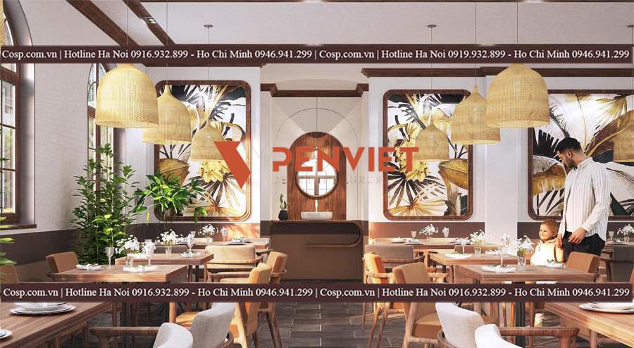 mẫu nội thất nhà hàng hải sản