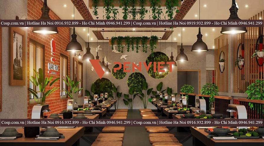 Mẫu thiết kế nhà hàng lẩu nướng tại Thanh Xuân- Hà Nội