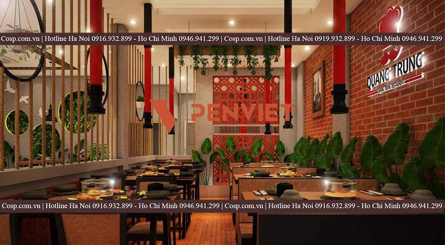 Thiết kế quán lẩu nướng tại Hà Nội