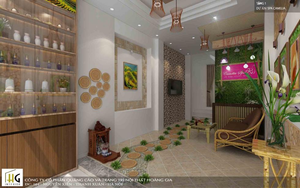 Nét đẹp văn hóa Việt thể hiện qua việc sử dụng vật liệu đặc trưng trong thiết kế nội thất spa