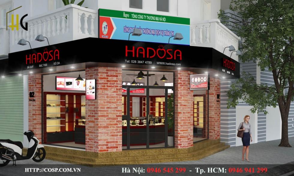 Mẫu thiết kế ngoại thất cửa hàng trang sức hadosa