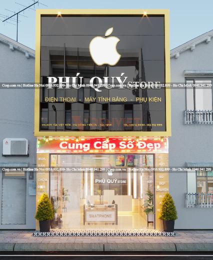 Thiết kế shop điện thoại Phú Quý