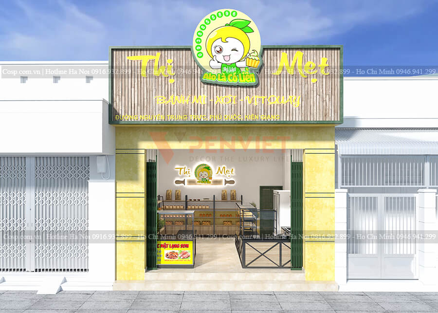 Mặt tiền tiệm bánh Thị Mẹt