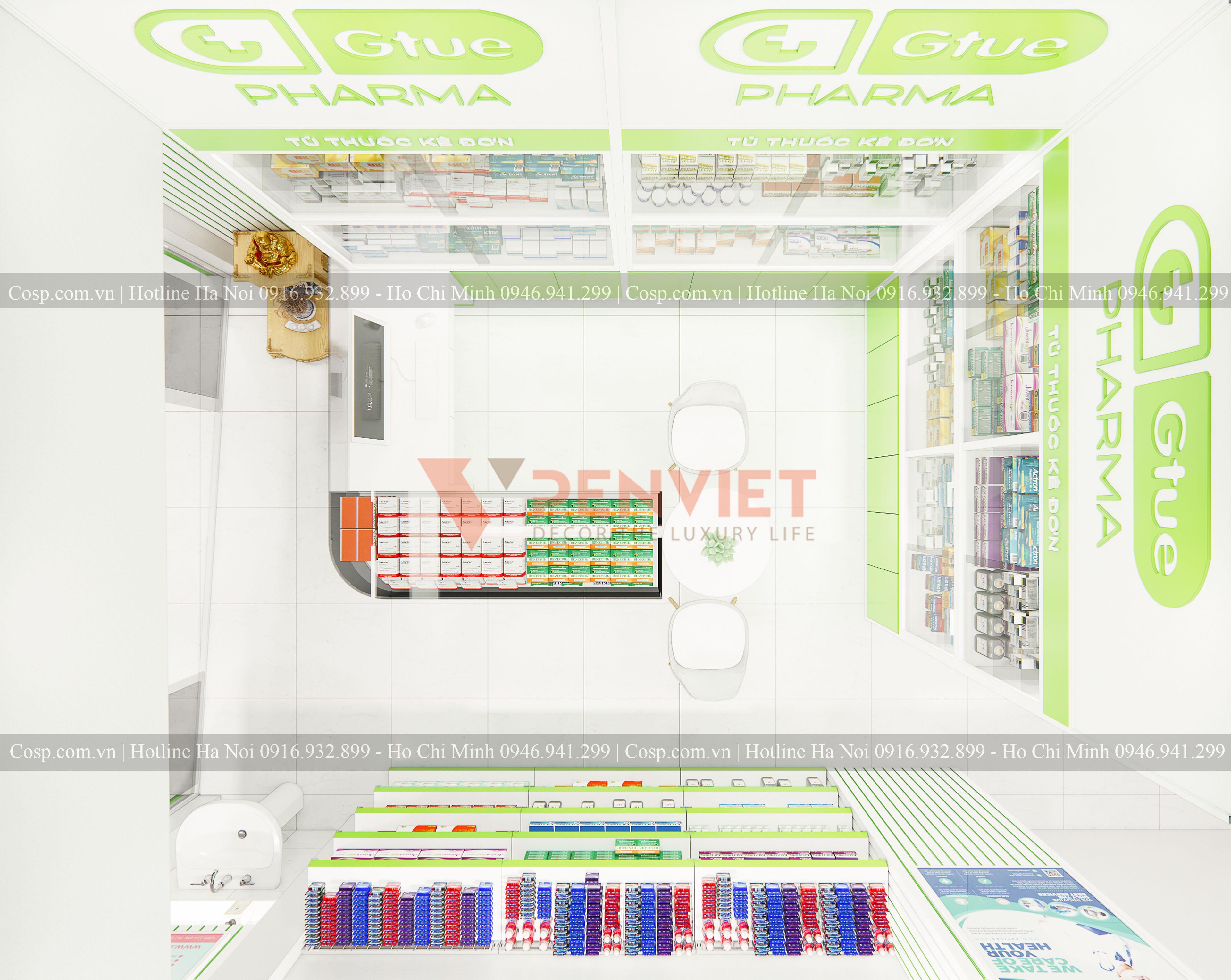 Thiết kế hiệu thuốc Gtue - Pharma