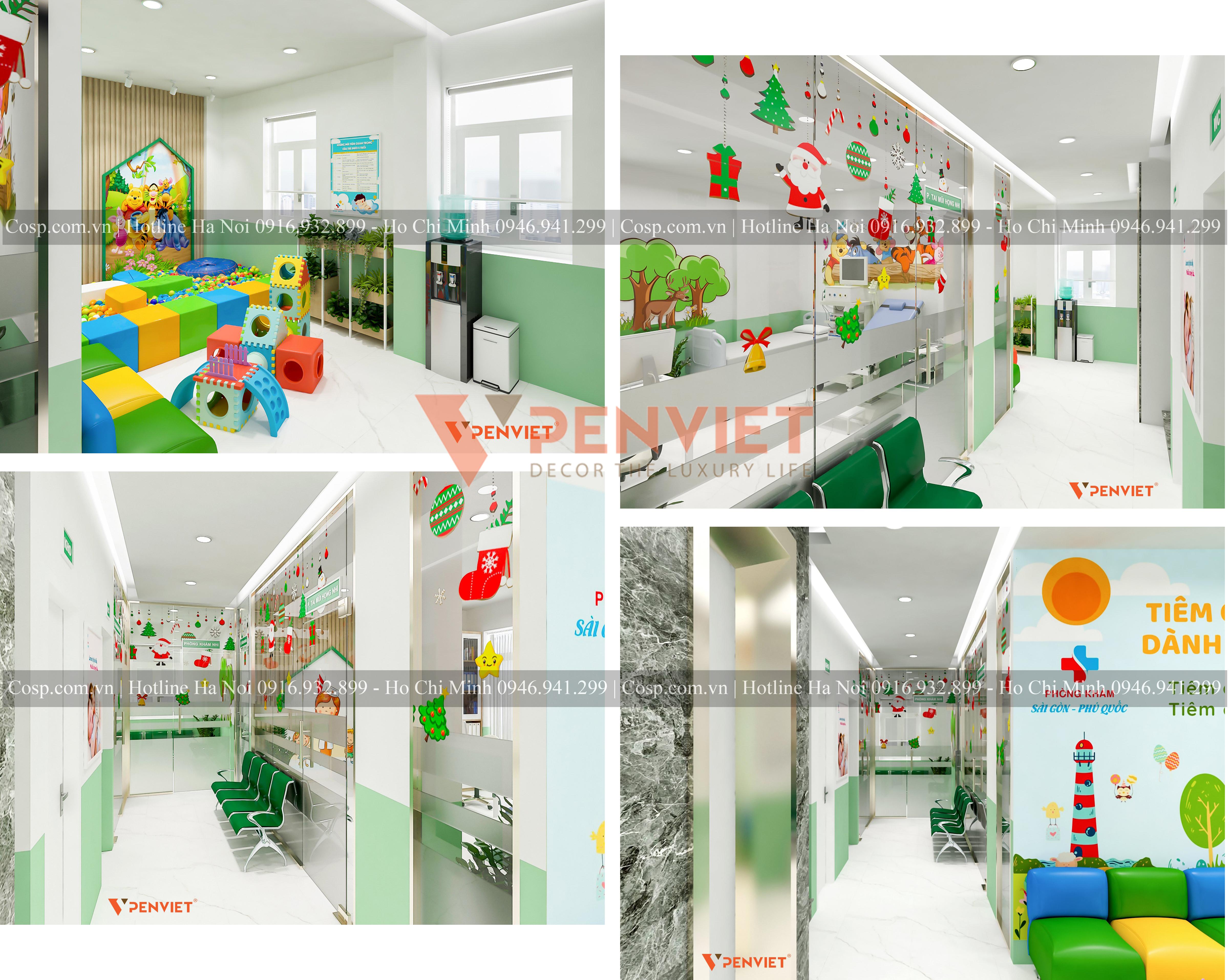 Thiết kế phòng khám với khu vui chơi dành cho các bệnh nhân nhí