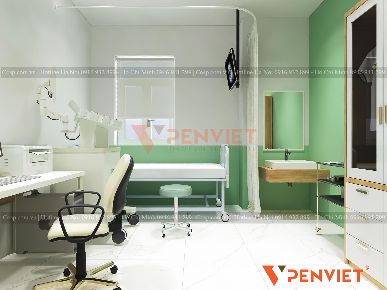 Thiết kế phòng bệnh khám hiện đại, tiện nghi