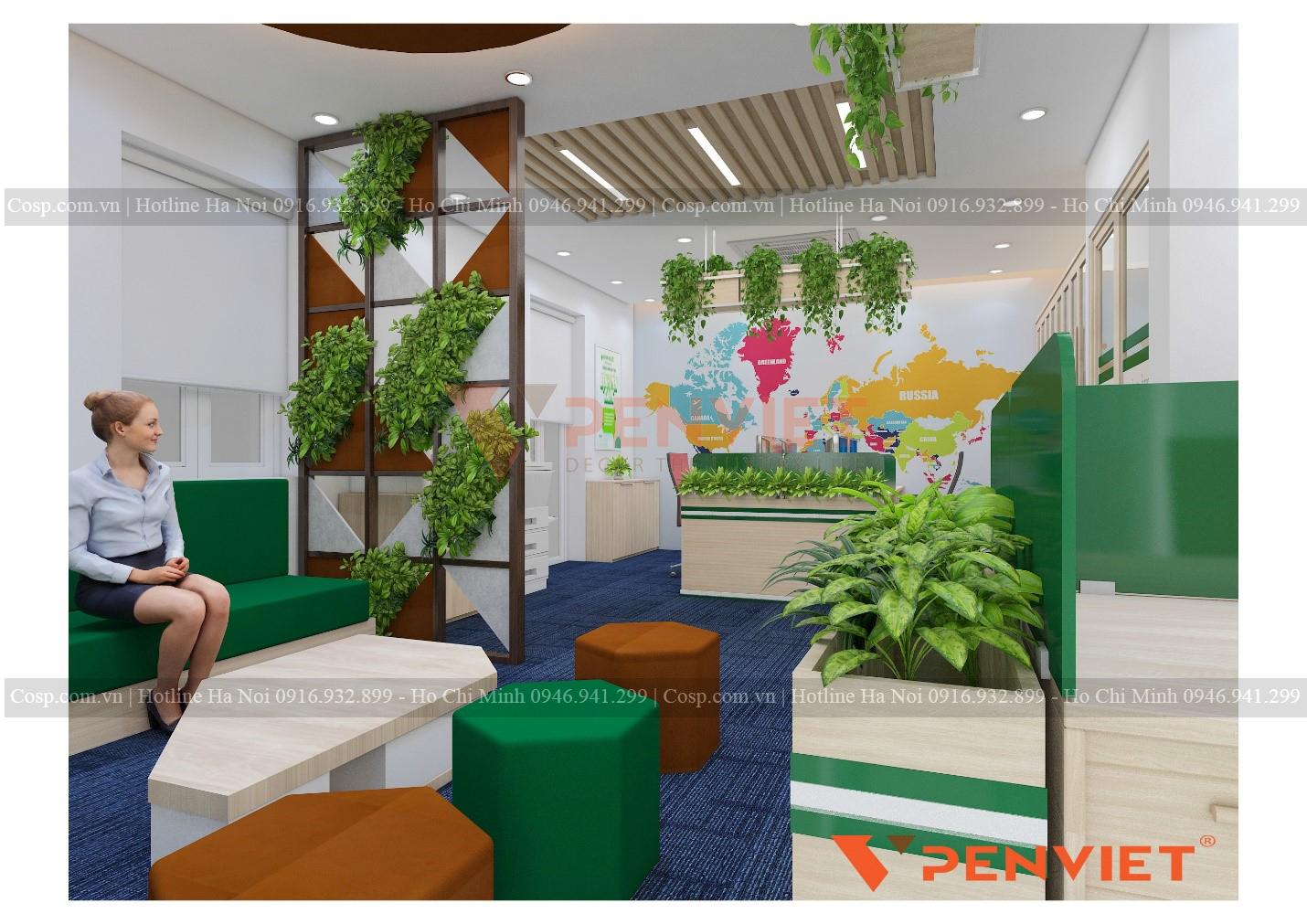 Không gian xanh trong phòng làm việc