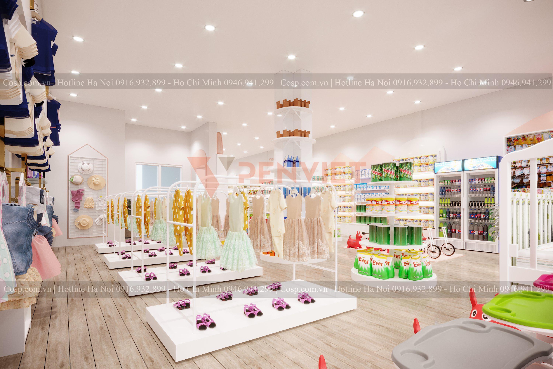 Thiết kế shop quần áo mẹ và bé POPI Store - 10