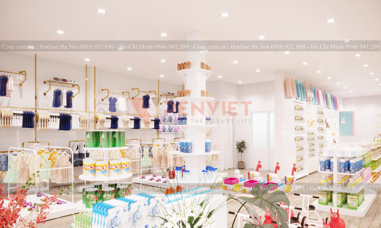 Thiết kế cửa hàng mẹ và bé POPI Store - 5