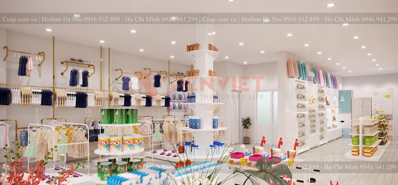 Thiết kế cửa hàng mẹ và bé POPI Store - 6