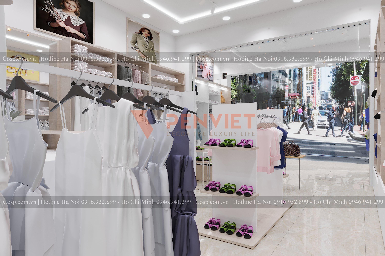 Thiết kế cửa hàng thời trang Quỳnh Fashion