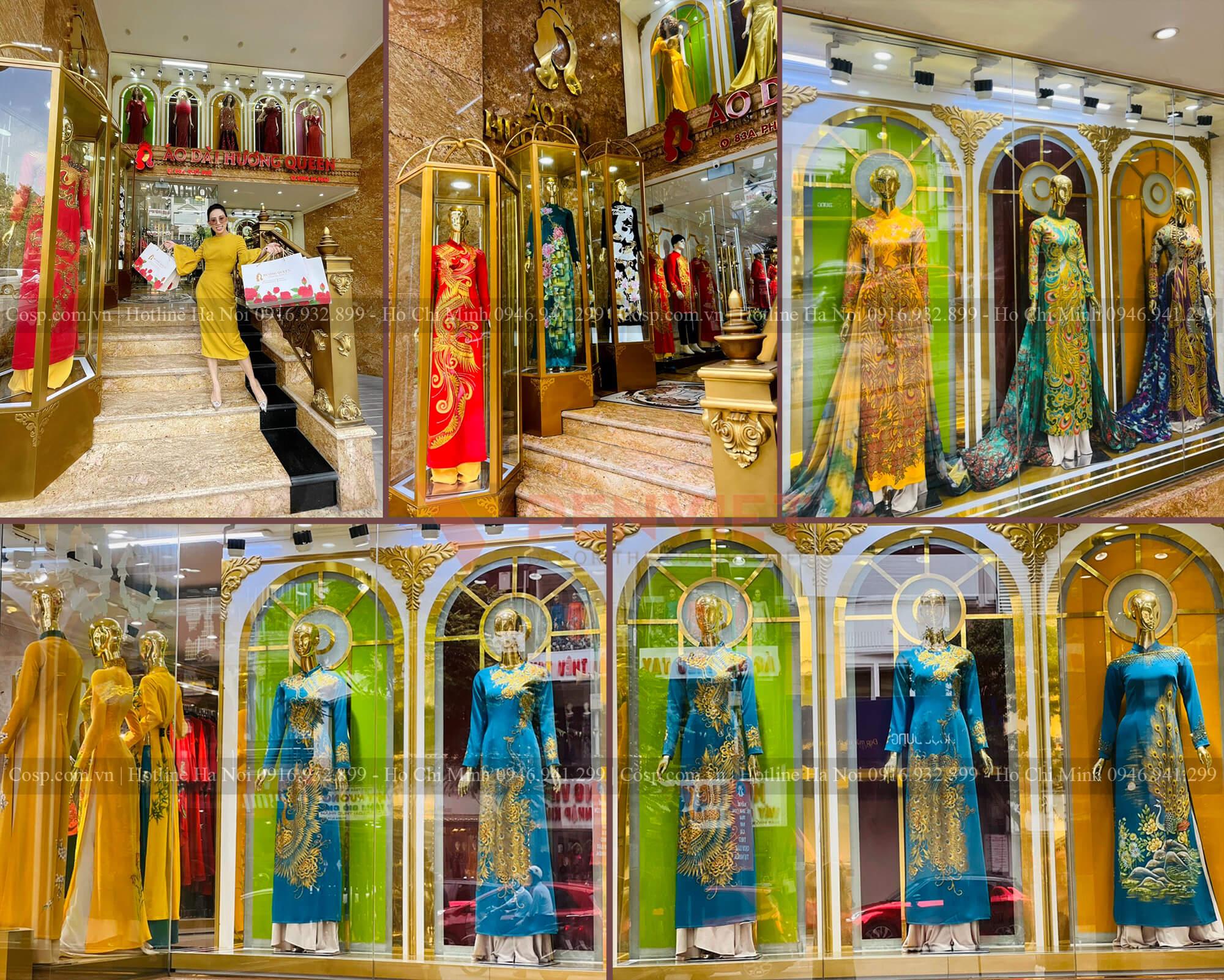 Hình ảnh thực tế khu vực trưng bày mannequin trước sảnh tầng 1 và tầng 2