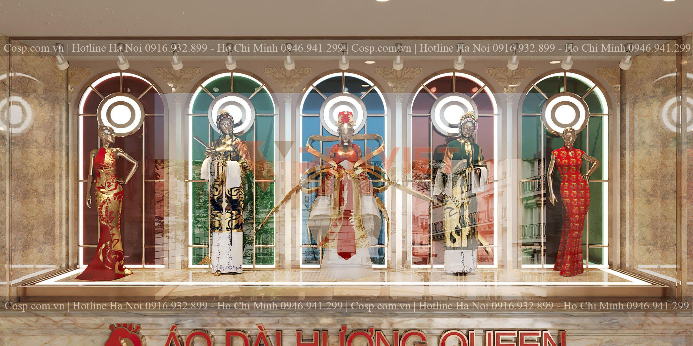 Thiết kế bục trưng bày Mannequin ở trước sảnh tầng 2