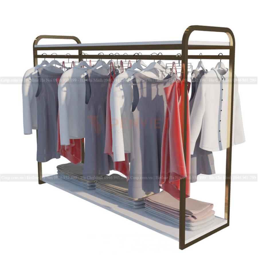 Giá treo đôi tại cửa hàng thời trang