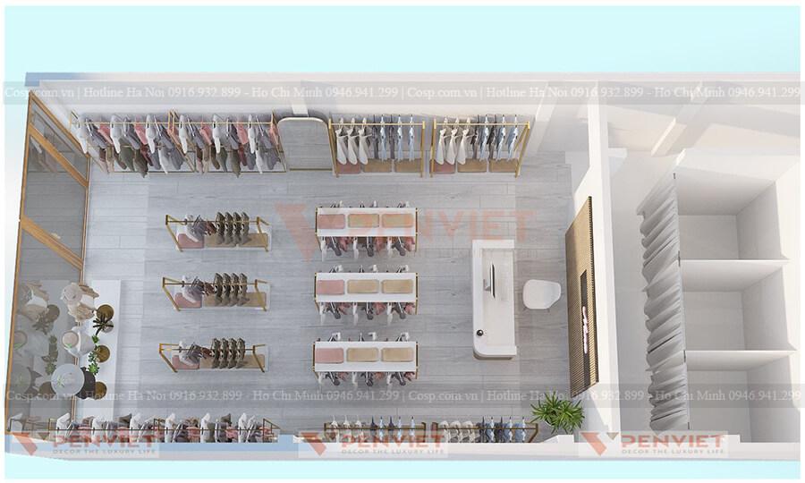 Tàn cảnh không gian cửa hàng thời trang của Mr Vũ tại Đồng Nai