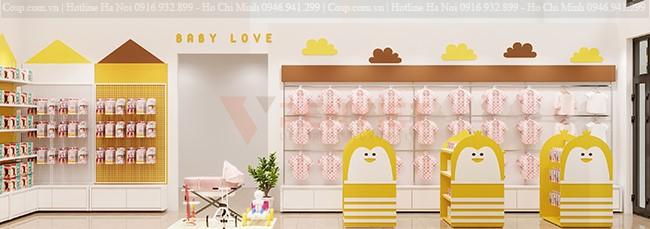 Thiết kế shop mẹ và bé Minh Thu