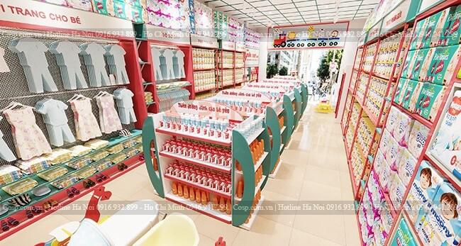 Thiết kế tủ kệ phù hợp với ý đồ trưng bày sản phẩm
