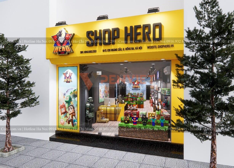 Hero Shop nổi bật hơn hẳn so với các cửa hàng xung quanh