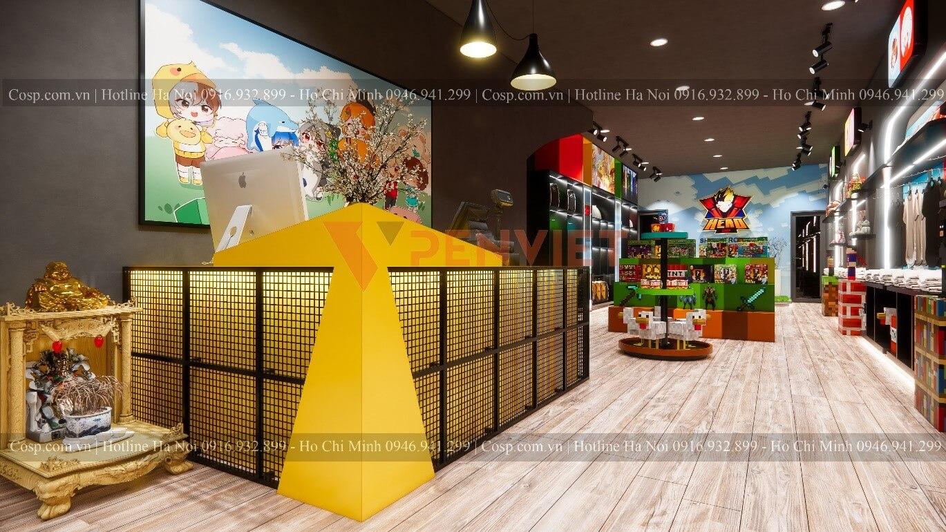 Thiết kế shop đồ chơi trẻ em Hero Shop