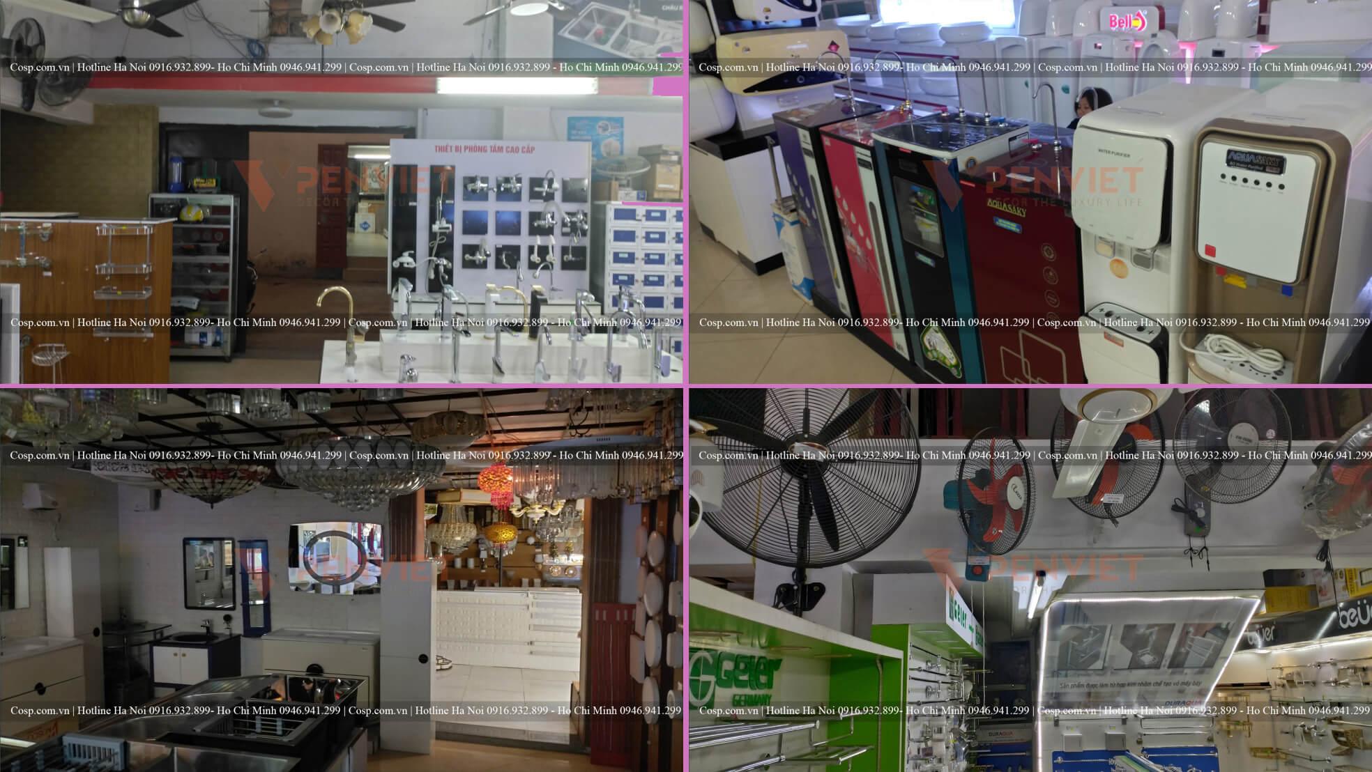 Hình ảnh thực tế của cửa hàng TBVS Cường Lan trước khi thiết kế, thi công