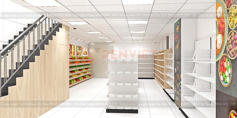 Tranh trang trí và hệ thống ánh sáng tại cửa hàng