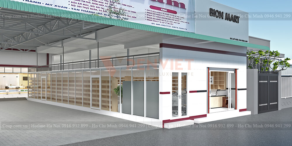 Thiết kế siêu thị Bion Mark