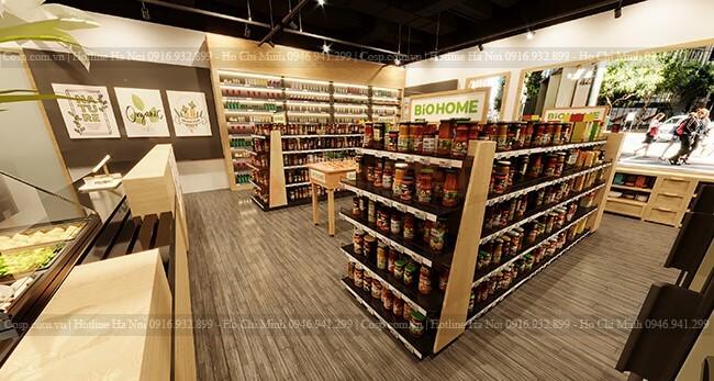Sử dụng màu nâu gỗ mang lại cảm giác thân thiện cho khách hàng