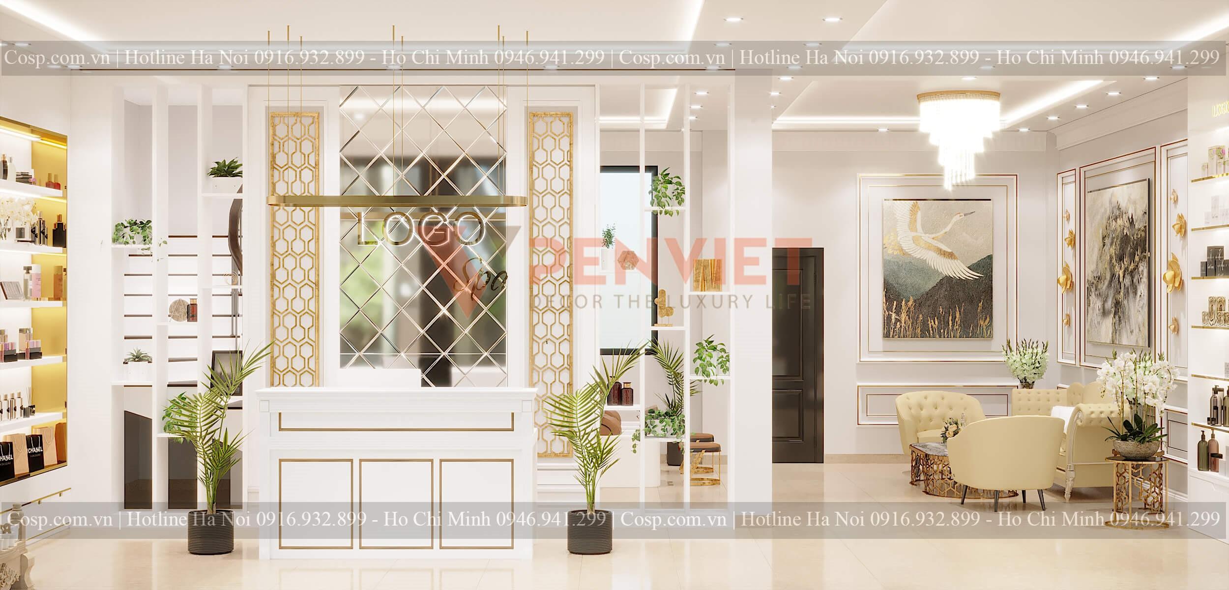 Thiết kế spa ấn tượng góp phần tạo dựng thương hiệu cho cơ sở làm đẹp