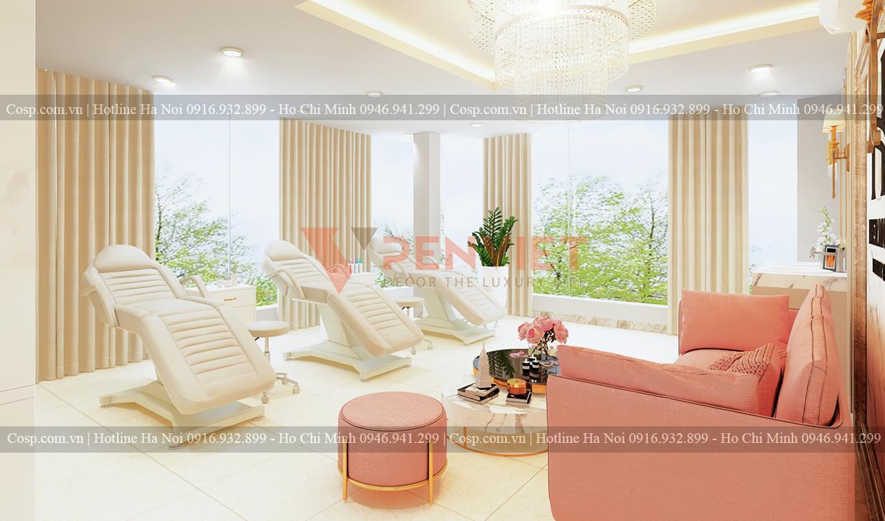 Thiết kế spa Hermosa - Khu vực giường spa ở tầng 3