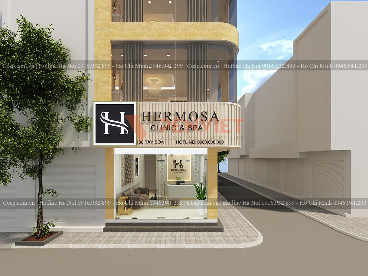 Thiết kế spa Hermosa - Tây Sơn