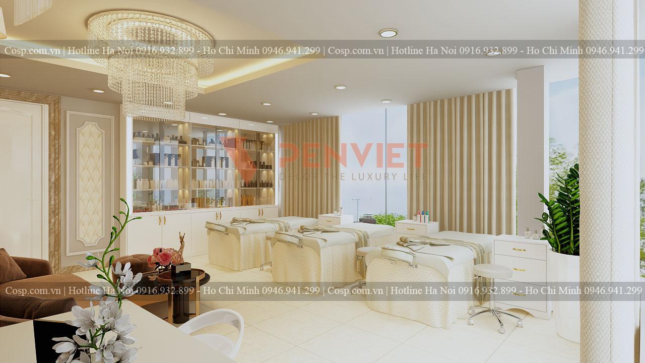 Thiết kế spa Hermosa - Tủ để đồ tầng 2