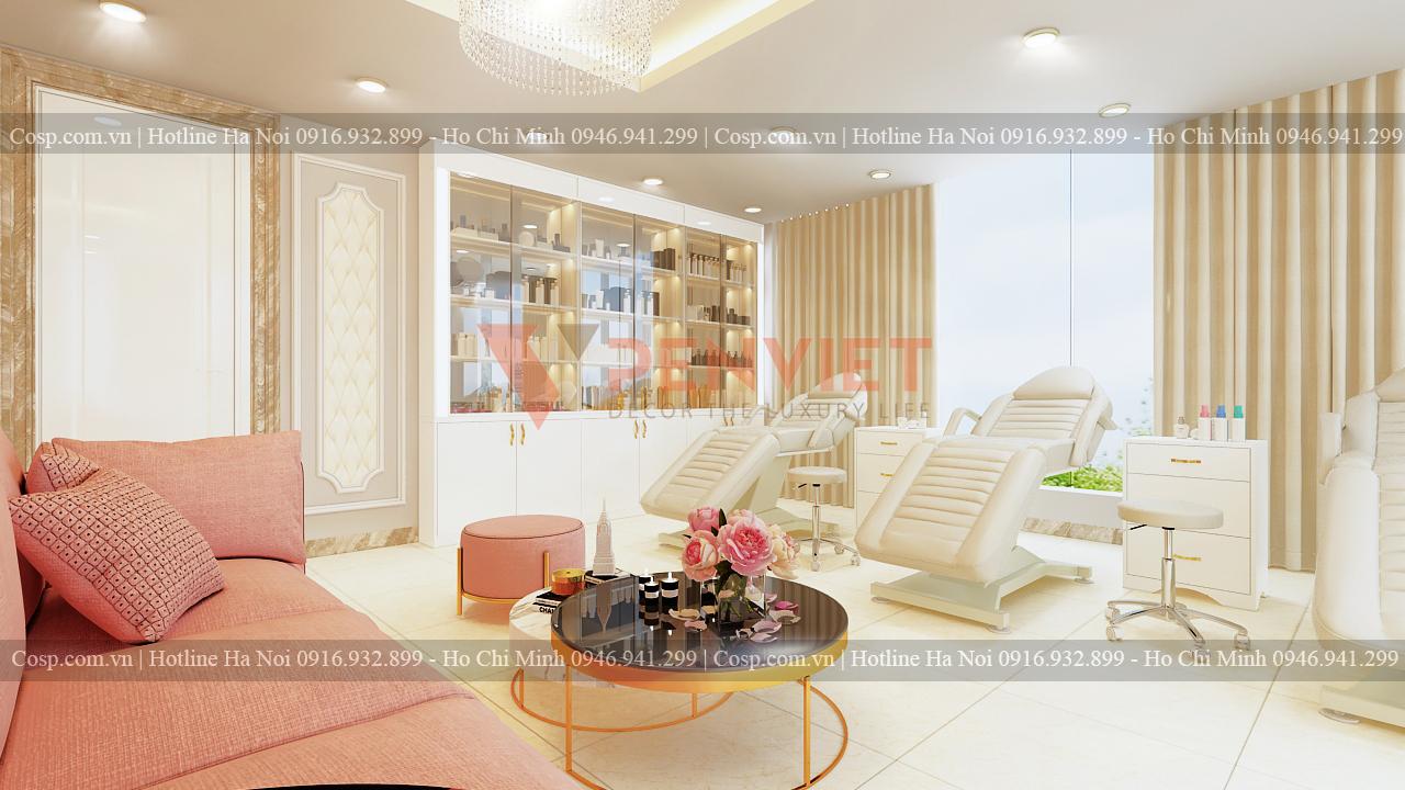 Thiết kế spa Hermosa - Tủ để đồ tầng 3