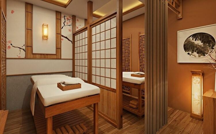 Gỗ tạo nên nội thất spa đẹp phong cách Nhật Bản